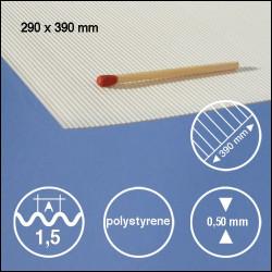 Tôle ondulée polystyrène 1,5mm
