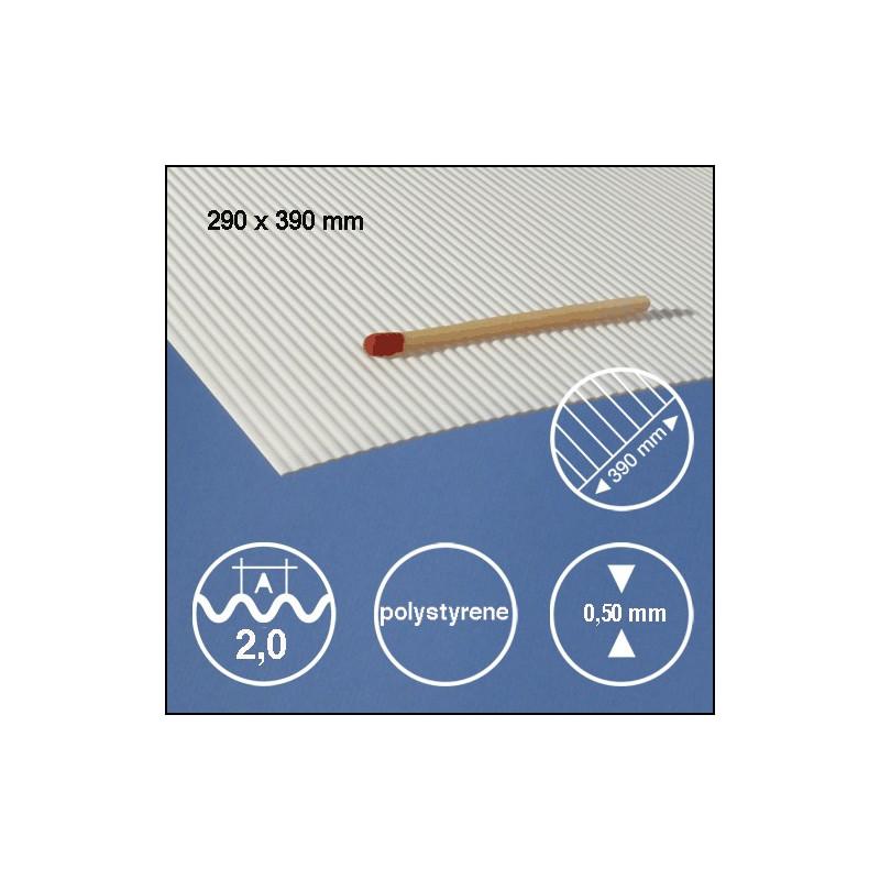 Tôle ondulée polystyrène 2,0mm