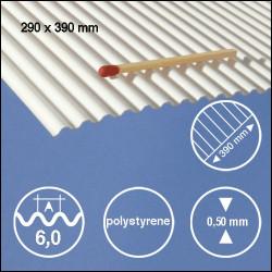 Tôle ondulée polystyrène 6,0mm
