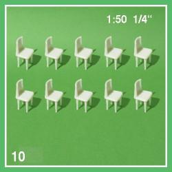 10 chaises - échelle 1:50