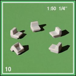 10 fauteuils sans accoudoirs - échelle 1:50