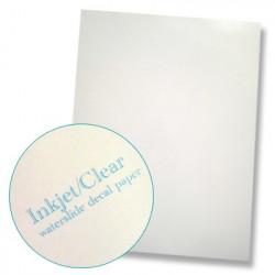 Papier à décalcomanies fond transparent - La feuille