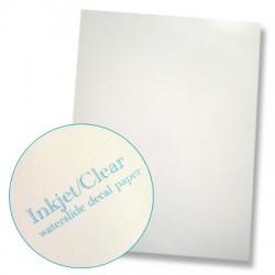 Papier à décalcomanies fond blanc - 10 feuilles