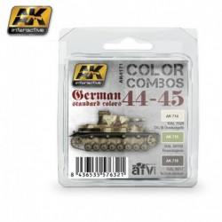 AK4171 AFV German Standard Colors 44-45 (Acrylic Paint Set)