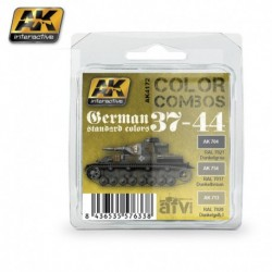 AK4172 AFV German Standard Colors 37-44 (Acrylic Paint Set)