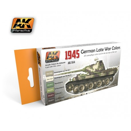 AK554 German Late War Colors 1945 (Acrylic Paint Set)