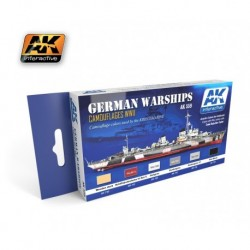 AK559 GERMAN WARSHIPS Camouflages WWII (Acrylic Paint Set)