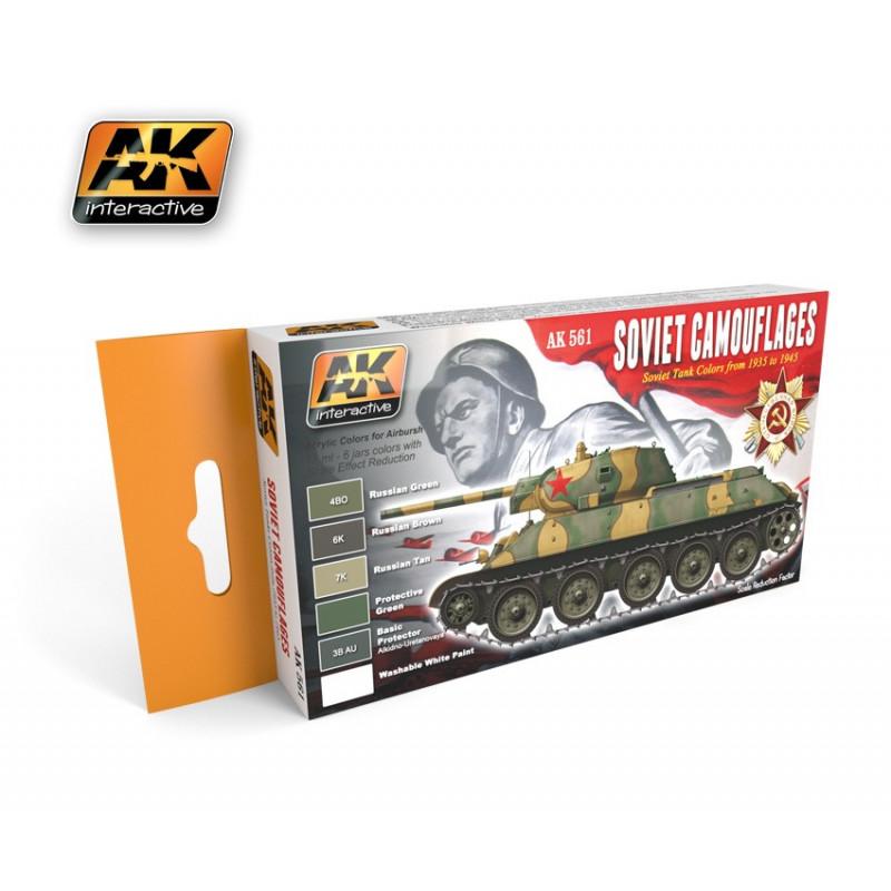 AK561 SOVIET Camouflages (Acrylic Paint Set)