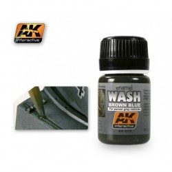 AK070 Brown Blue For panzer grey vehicles (enamel WASH)
