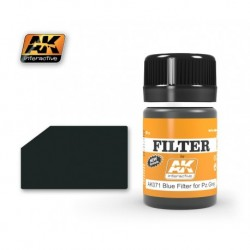 AK 071 FILTER Blue Filter for Panzer Grey