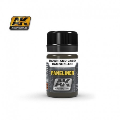 AK2071 PANELINER Brown and Green Camouflage