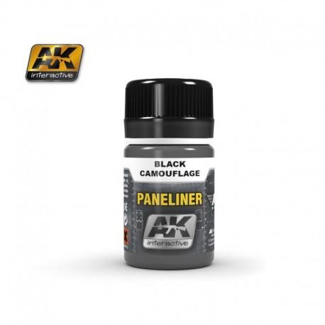 AK2075 PANELINER Black Camouflage