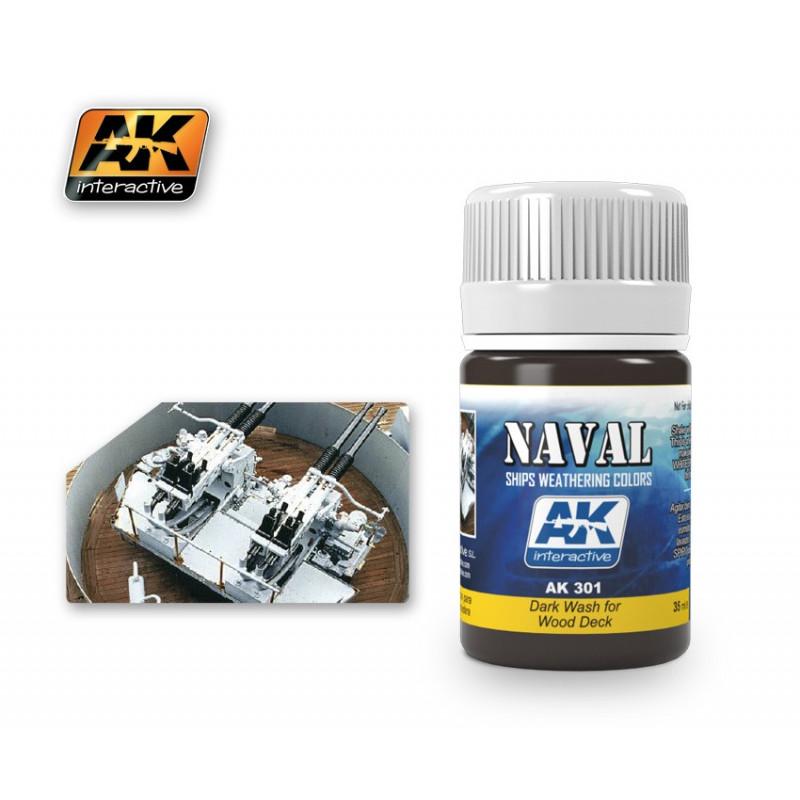 AK301 NAVAL Dark Wash for Wood Deck