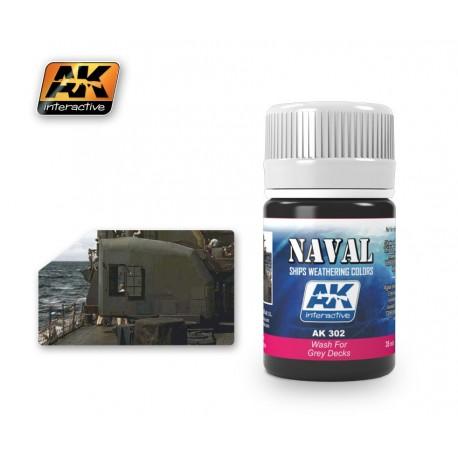AK302 NAVAL Wash For Grey Decks