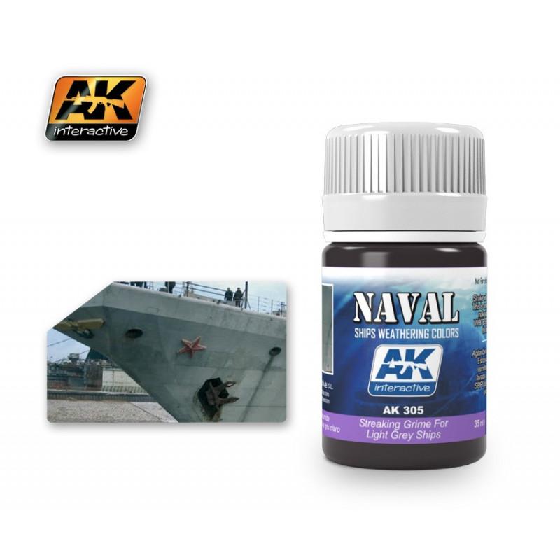 AK305 NAVAL Streaking Grime For Light Grey Ships