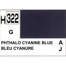 GUNZE H322 BLEU CYANINE BRILLANT