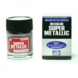 Peinture Gunze Mr.COLOR SUPER METALLIC SM01 Super Chrome