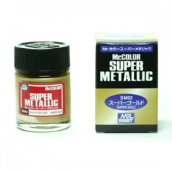 Peinture Gunze Mr.COLOR SUPER METALLIC SM02 Super Gold