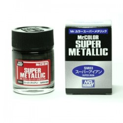 Peinture Gunze Mr.COLOR SUPER METALLIC SM03 Super Iron