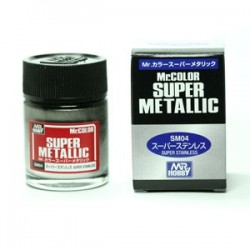 Peinture Gunze Mr.COLOR SUPER METALLIC SM04 Super Stainless