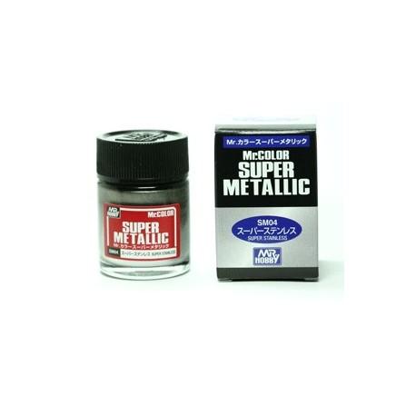 Peinture Gunze Mr.COLOR SUPER METALLIC SM04 Super Stainless