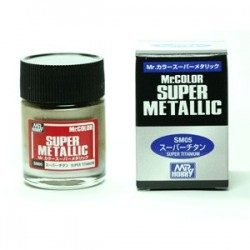 Peinture Gunze Mr.COLOR SUPER METALLIC SM05 Super Titanium