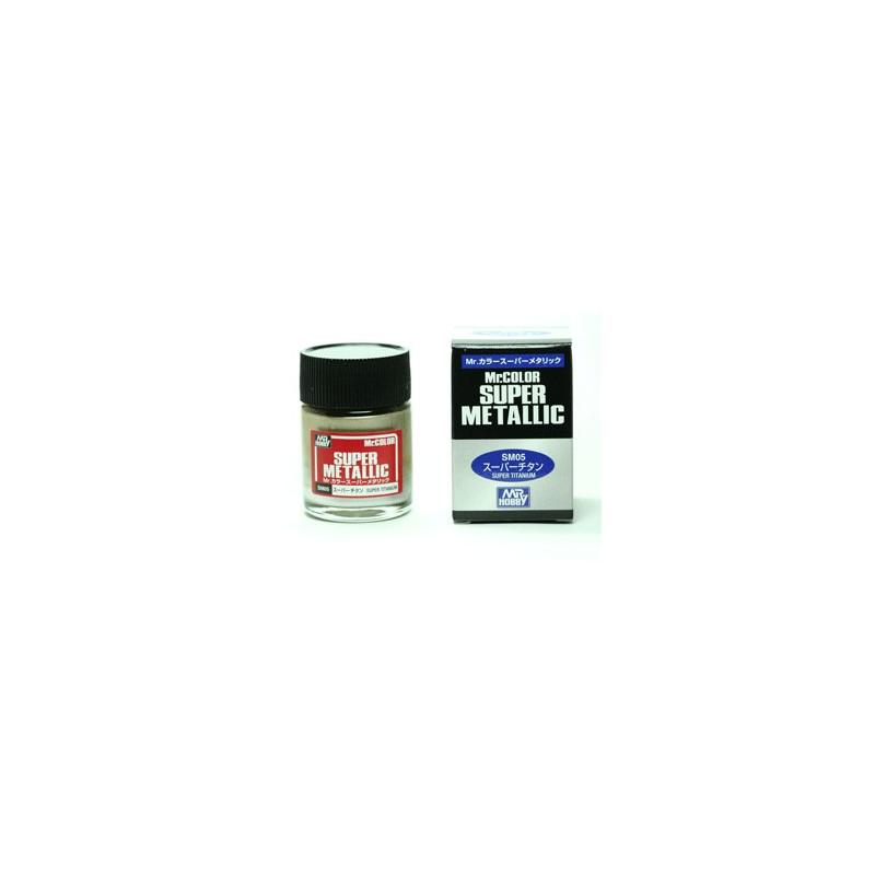 Peinture Gunze Mr.COLOR SUPER METALLIC SM05 Super Titanium