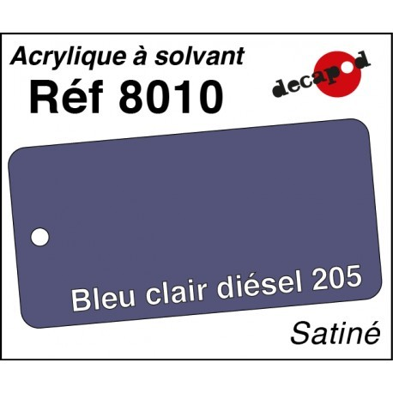 595-8010 Acryl Solvant bleu clair diésel 205
