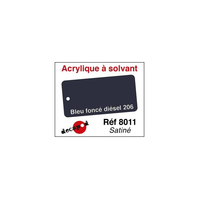 595-8011 Acryl Solvant bleu foncé diésel 206