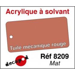 Tuile mécanique rouge mat 30ml