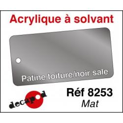 Patine toiture noir sale mat (acrylique à solvant) 30ml