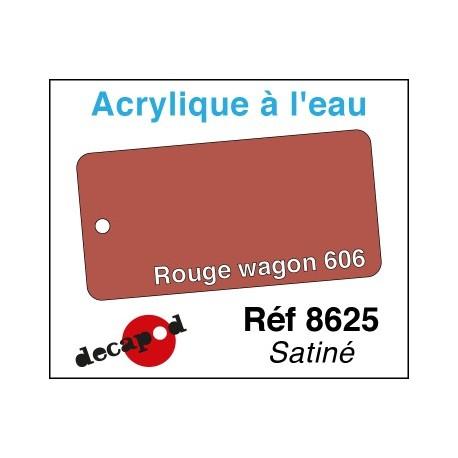 Acryl eau Rouge wagon 606 satiné