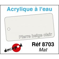 Acryl eau Mat Pierre beige clair