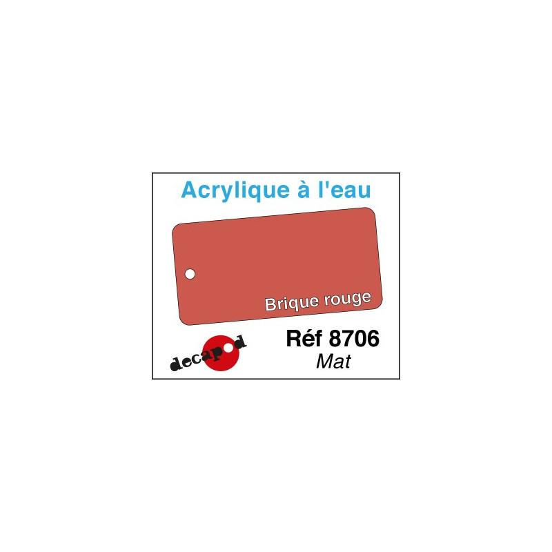 Acryl eau Mat Brique rouge