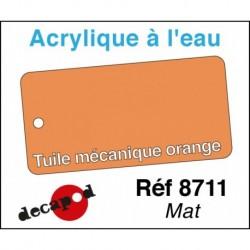 Acryl eau Tuile mécanique orange