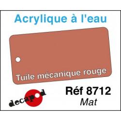 Acryl eau Tuile mécanique rouge