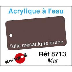 Acryl eau Tuile mécanique brune mat