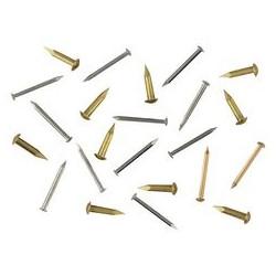 Clou laiton D 1,3mm, tête de 2,3mm L 10mm environ 100 pièces