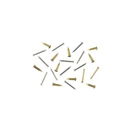 Clou laiton D 1,3mm, tête de 2,3mm L 16mm environ 100 pièces