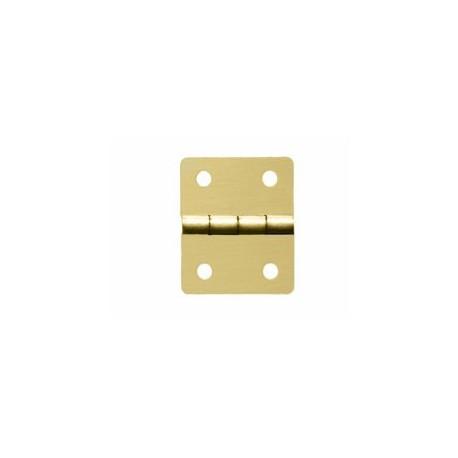 Charnière laiton 19x21,5mm trous de 2,3mm la paire