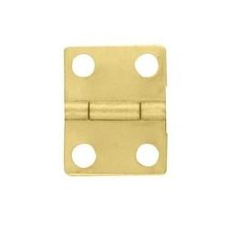 Charnière laiton 12x16mm trous de 2,3mm, la paire