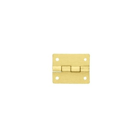 Charnière laiton 19x16mm trous de 1,2mm ( pour pointes) la paire