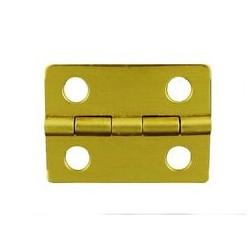 Charnière laiton 25,5x19mm trous de 3,5mm la paire