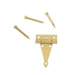 Charnière laiton 8,5x14mm la paire livrée sans clous