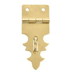 Fermeture laiton 19x47 mm trous de 2,3mm et crochet de 22mm trous de 2,3mm pour clous plats