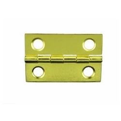 Charnière laiton 25x38mm trous de 5,0mm la paire