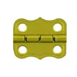Charnière laiton 20x25,5 mm trous de 3,5mm la paire