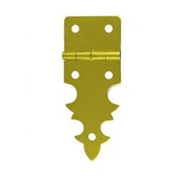 Charnière laiton 19x48 mm trous de 2,3mm la paire