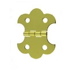 Charnière laiton 20x41 mm trous de 4,0mm la paire