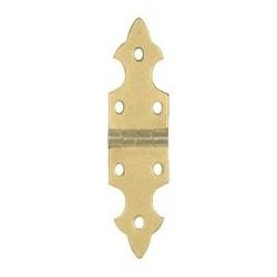 Charnière laiton 16,5x68 mm trous de 3,1mm la paire